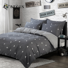 4Pcs Bedding Sets (1 Duvet cover+1 Bed sheet+2 Pillow covers) Aloe Cotton Flexibility Zipper Design Color as picture 5*6