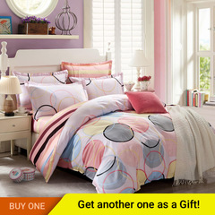 4Pcs Bedding Set(1 Duvet cover+1 Bed sheet+2 Pillow covers) 100% Preferred Cotton Smooth Soft color as picture 5*6