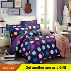4Pcs Bedding Set (1 Duvet cover+1 Bed sheet+2 Pillow covers)100% Preferred Cotton Smooth Soft color as picture 5*6