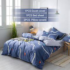 4PCS Bedding Set (1 Duvet cover+1 Bed sheet+2 Pillow covers) Aloe Cotton2019020 as picture 6*6