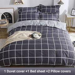 4PCS Bedding Set (1 Duvet cover+1 Bed sheet+2 Pillow covers) Aloe Cotton2019011 as picture 6*6