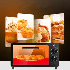 KP 6 Months Warranty Electric Oven Toaster 12L Capacity 1000W Power black+red 12L 1000W