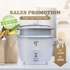 KP 1.8L Capacity 6 Months Warranty Stainless Steel Rice Cooker Steamer Cookware  800W Power White