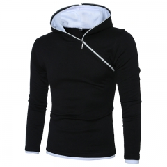 Large size men's oblique zipper hooded sweater 7339-P25 color 9 l