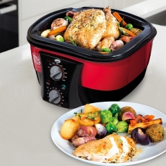 Go Chef 8-in-1 Non-Stick Multi Functional Cooker with Bonus Recipe Book