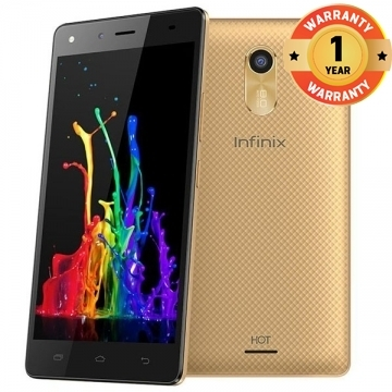 "INFINIX Hot 4 X557 Lite, 5.5"" Screen, 16GB ROM, 1GB RAM, 8MP Camera, Best Deal Smart Mobile Phone gold"