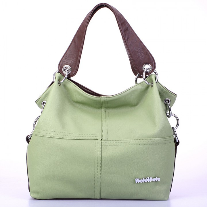 Handbag 2017 New Fashion Big Handbag Multi-color green one size