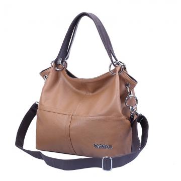 Handbag 2017 New Fashion Big Handbag Multi-color light brown one size