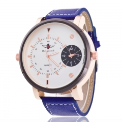 Woogoing Men's Business Boutique Fashion Watches blue