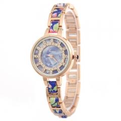 Woogoing Watch Ladies Luxury Quartz Watches with Diamond blue