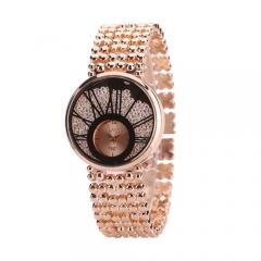 Exquisite ladies small dials quicksand face diamond bracelet bracelet quartz watch silver