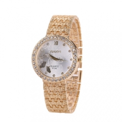 Rhinestones with iron and cute butterfly students hot watch gold
