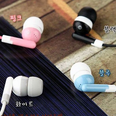 Candy Color Wired Earphones 3.5mm In-Ear Random Color Color Random