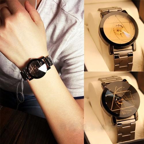 Vanlentine Gift-1Set/2Pcs Navigation Compass Couple Quartz Watches black Couple