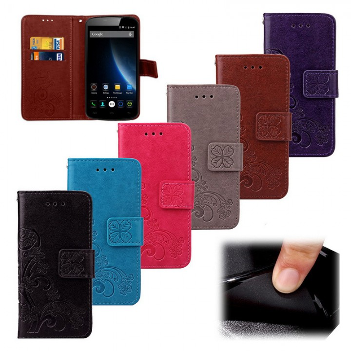 the latest 3a5c5 8756d For Doogee Samsung S8 - Luxury Retro Flip Case Pro PU Leather + Soft ...