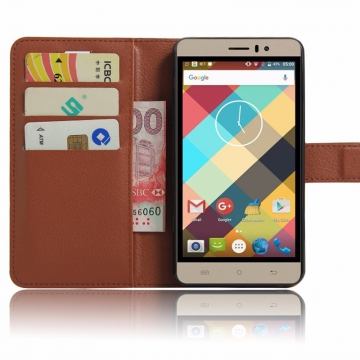 New For Cubot Note S '- Luxury Flip Leather Stand Case PU Leather Cover brown 5.5inch