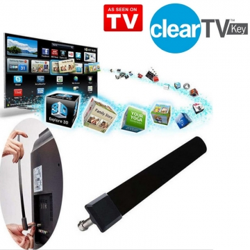 New Clear TV Key -HDTV FREE TV Digital Indoor Antenna Ditch Cable As Seen on TV