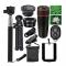 10 in 1 Phone Camera Lens -8x Lenses /Fish Eye / Wide Macro/Selfie Stick /Monopod Tripod black one size