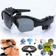 Sports Stereo Wireless Bluetooth 4.0 Eyeglasses Headset /Sunglasses Earphone black