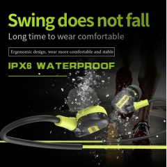 IPX6 Waterproof & Sweetproof Earphone-with Mic Volume Control Handsfree Headset For Smartphone black
