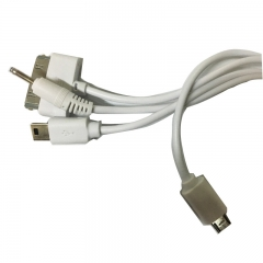 4 in 1 USB Charging Cable For Smartphones white
