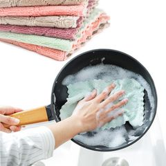 Super Absorbent Microfiber Towel Cloth Kitchen Towels ,Dish Cleaning Rags ,Household Tableware 1PCS one size