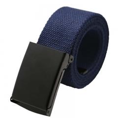 Men Belt New Fashion Unisex Army Tactical Waist Belt Canvas Webbing Waistband Ceinture Femme Navy