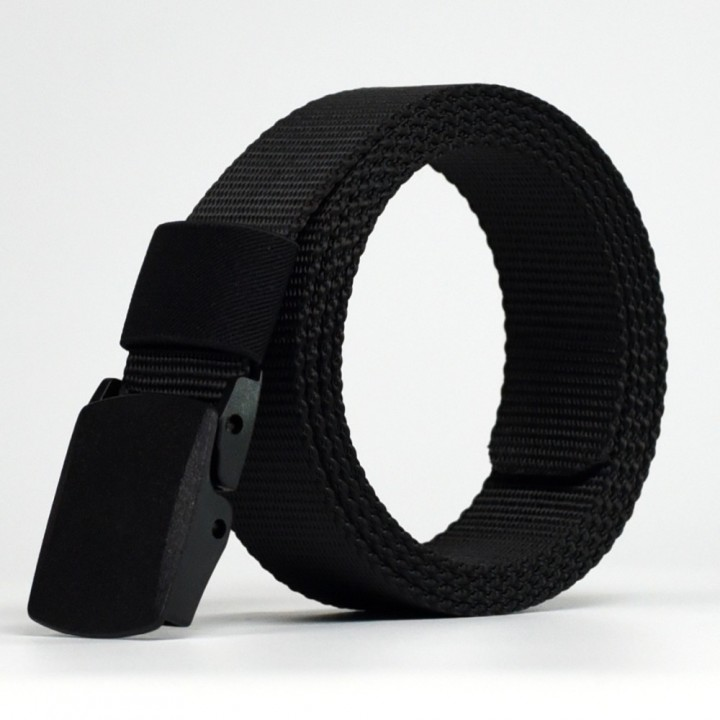 Male High Quality Designer Brand Automatic Buckle Belt For Men Casual Style Tactical Belt For Jeans black