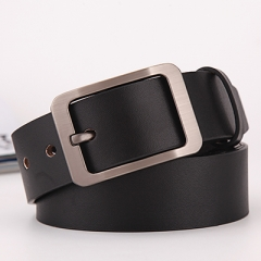 belt men genuine leather luxury strap male belts for men buckle black 110cm