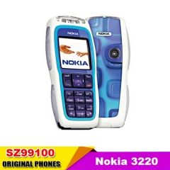 Refurbished phone Nokia 3220 Unlocked GSM900/1800/1900 Cheap Mobile Phone blue