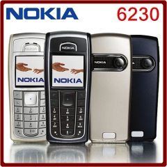 Refurbished phone Original Unlocked Nokia 6230i 850mAh Cellphone black silver