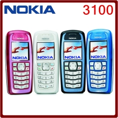 Original Unlocked Nokia 3100 GSM Bar 850 mAh Cheap Cellphone white