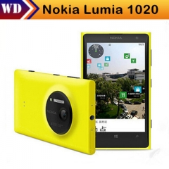 Refurbished Smartphones Nokia lumia 1020 Windows 32GB Camera 41MP GPS Wifi 4.5 inch Screen 32G yellow