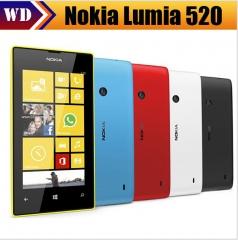 Refurbished smartphone Nokia lumia 520 Dual Core 3G WIFI GPS 5MP 8GB Storage Unlocked Windows black