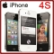 Sealed Factory Unlocked apple iPhone 4S 3.5 Inches 8/16/32/64GB GSM 8MP WIFI GPS IOS Phone 8GB standard black