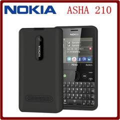 NEW smart phone Nokia Asha 210 Unlocked Mobile Phone Dual sim / Single SIM Card 2mp camera single sim card balck