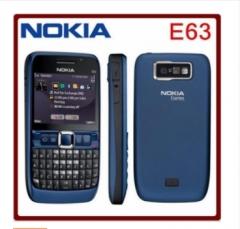 Refurbished phone Original unlocked NOKIA E63 cell phones 3G WIFI Bluetooth 2MP CAMERA multilingual blue