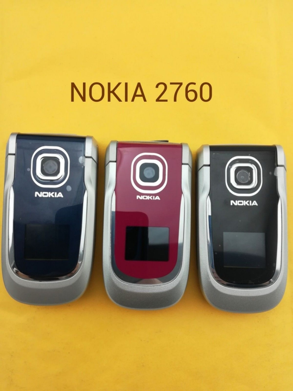 Refurbished ORIGINAL Nokia 2760 Blue Silver red 100% UNLOCKED Flip Cell phone sliver 2