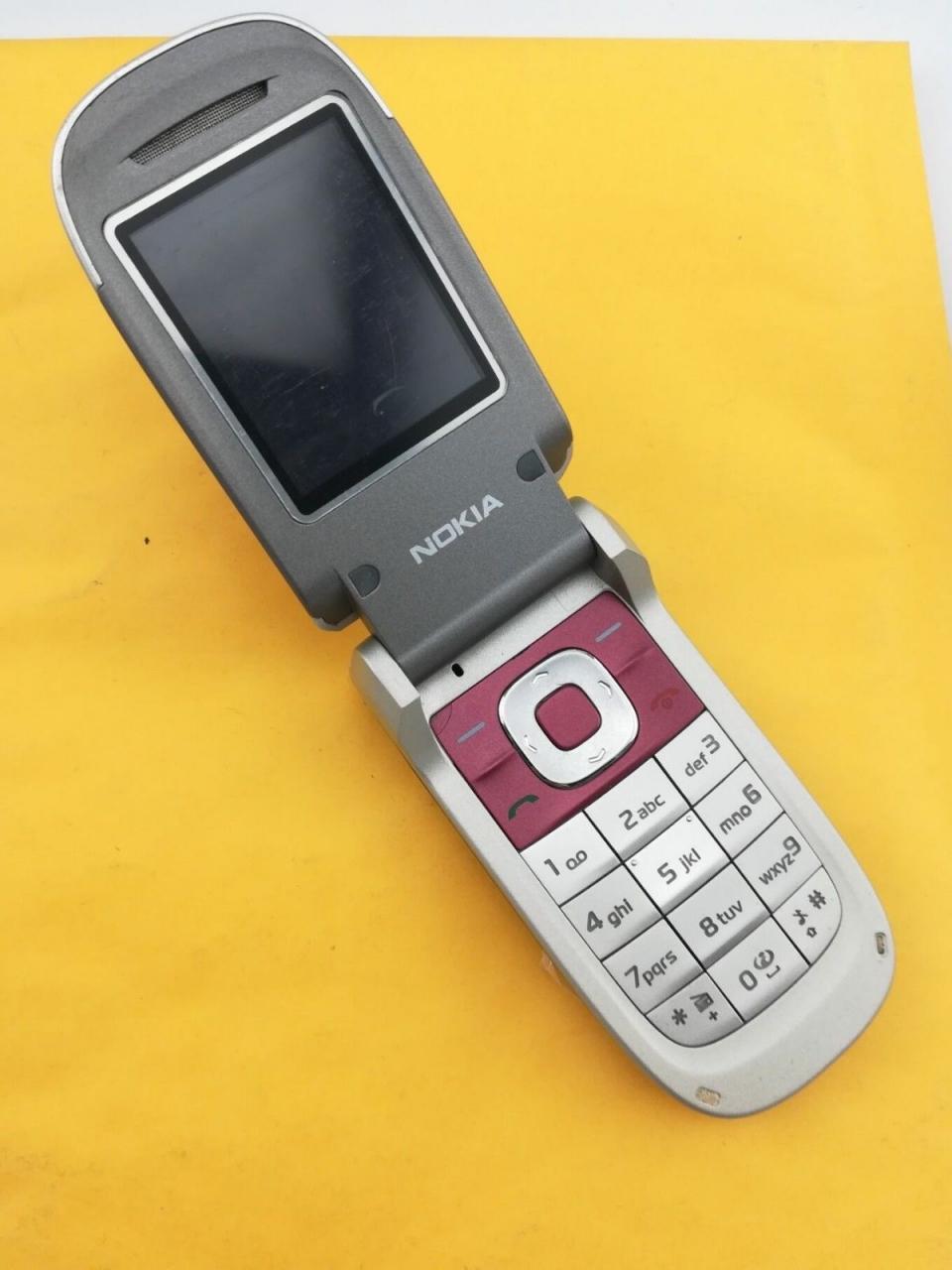 Refurbished ORIGINAL Nokia 2760 Blue Silver red 100% UNLOCKED Flip Cell phone sliver 6