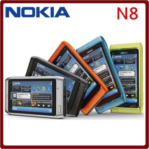 Refurbished nokia N8 smart large-screen hd camera WiFi 12MP 3G smart phone green 11