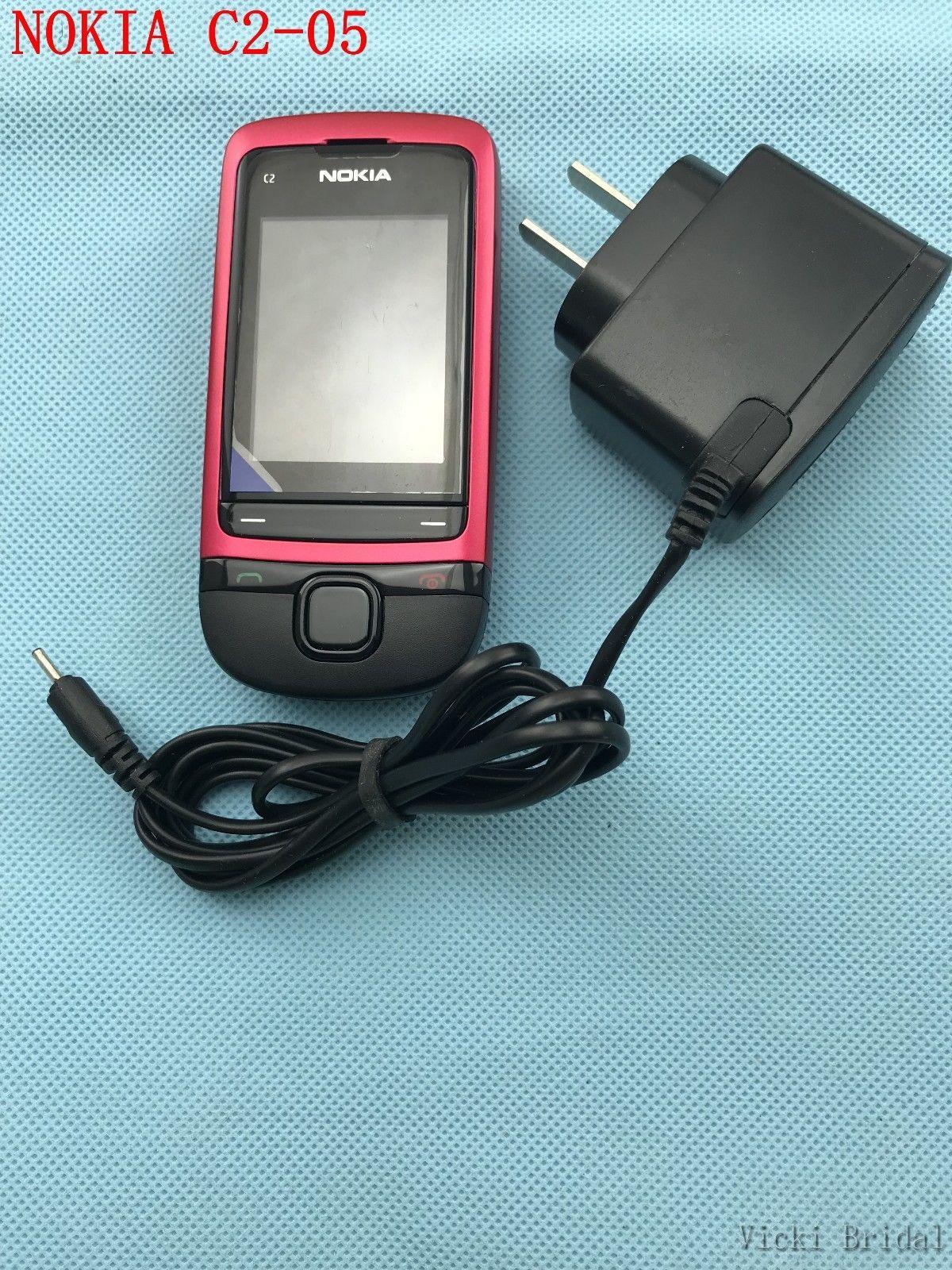 Refurbished phone Original Unlocked Nokia C2-05 slide cell phone Bluetooth phone black 3