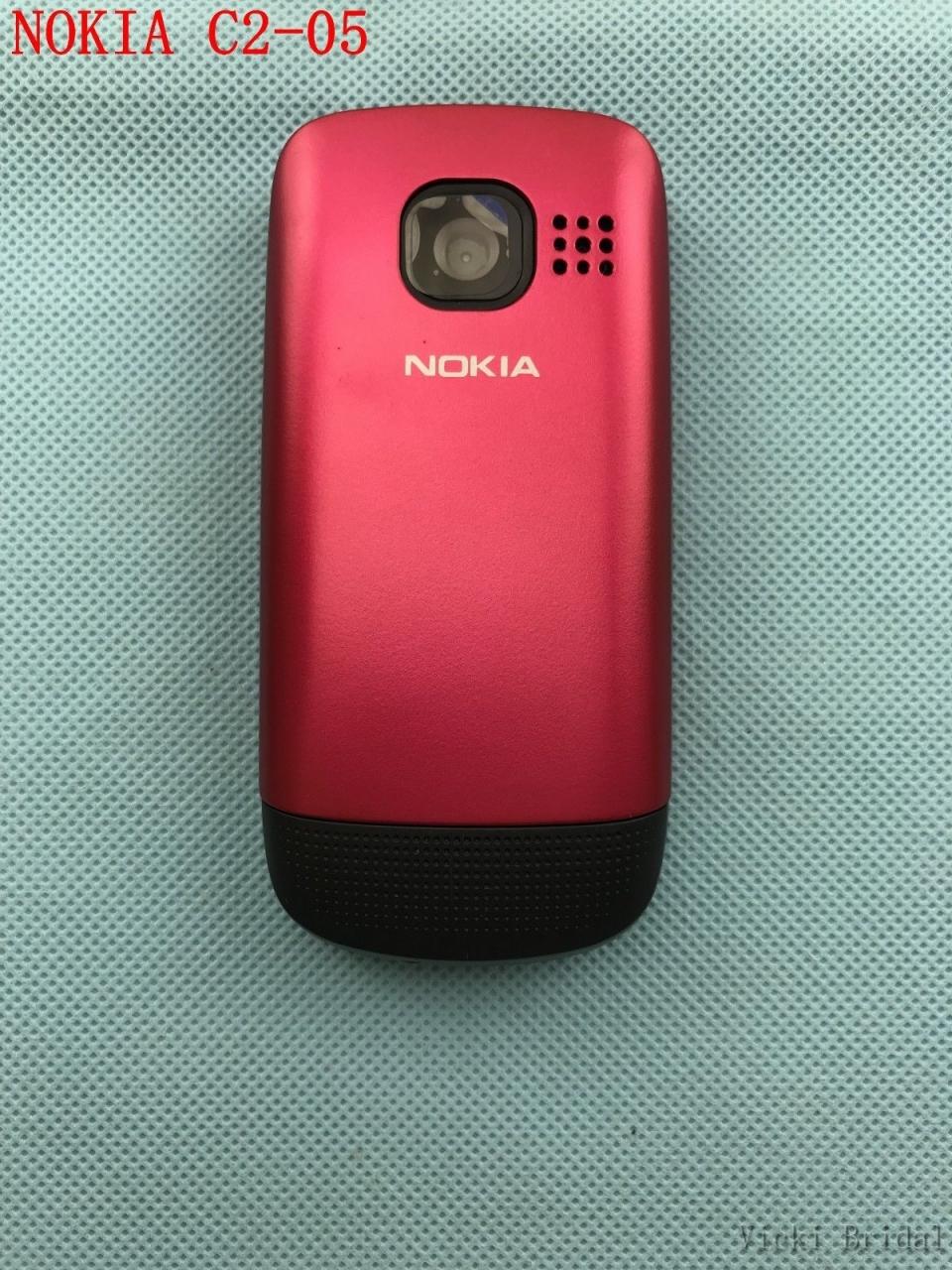 Refurbished phone Original Unlocked Nokia C2-05 slide cell phone Bluetooth phone black 6