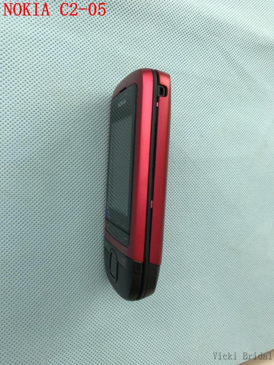 Refurbished phone Original Unlocked Nokia C2-05 slide cell phone Bluetooth phone black 7