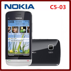 Refurbished Cheapest Unlocked Original Nokia C5-03 Mobile Phone GPS WIFI Bluetooth 3G 5MP smartphone black