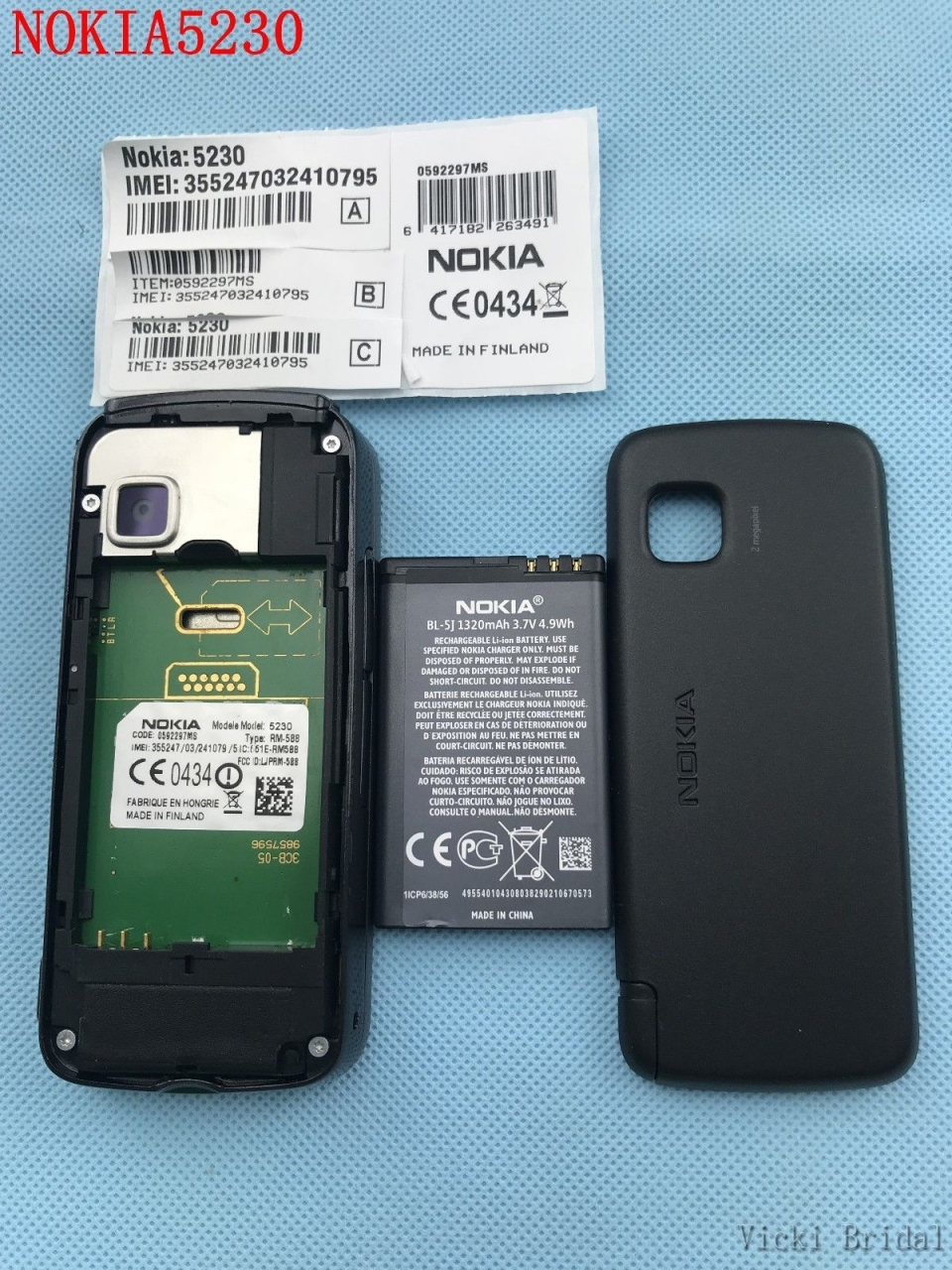 "Refurbished smartphone Nokia 5230 GPS 3G 3.2"" Bluetooth JAVA 2MP Unlocked Mobile Phone white 15"