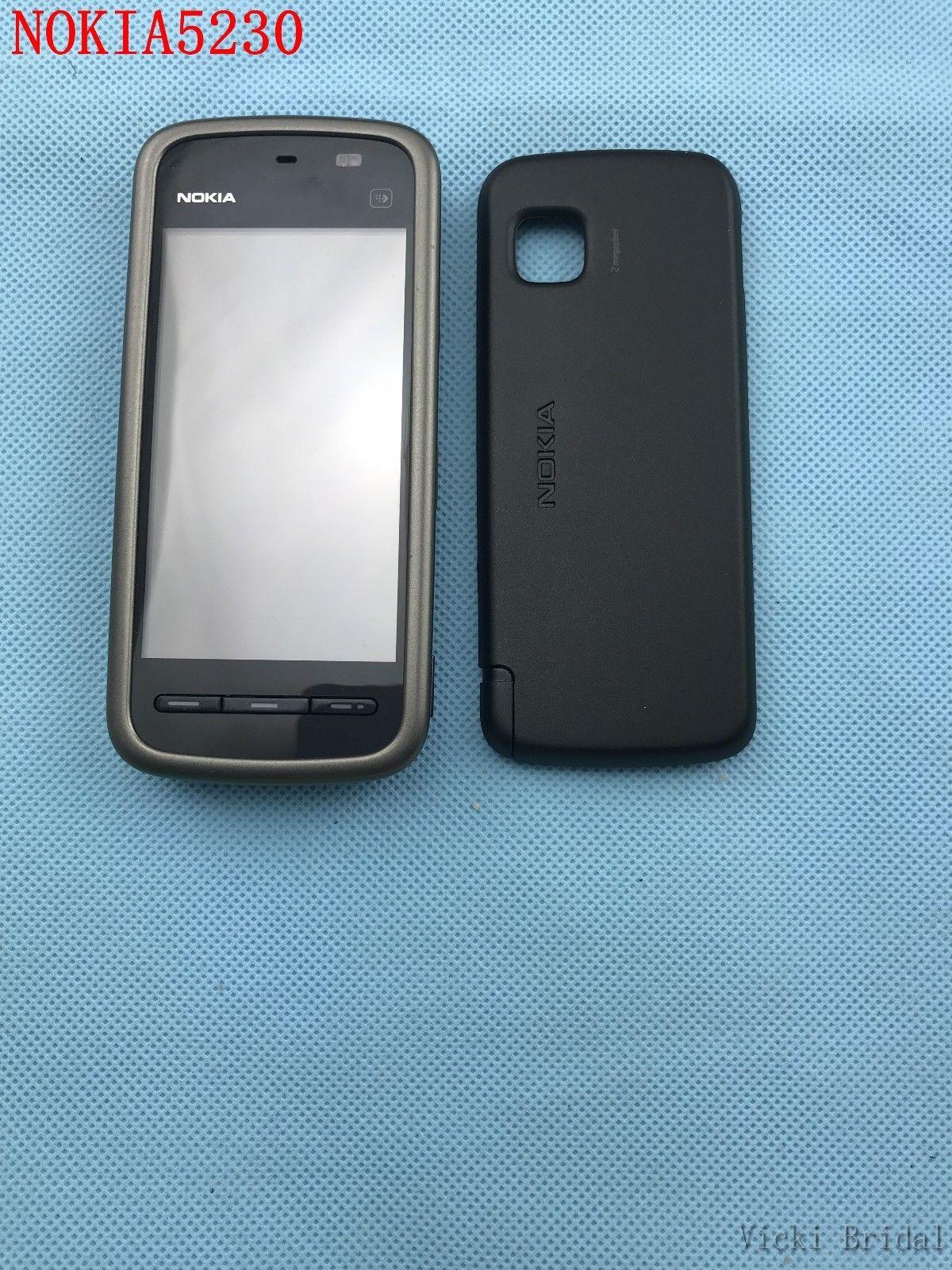 "Refurbished smartphone Nokia 5230 GPS 3G 3.2"" Bluetooth JAVA 2MP Unlocked Mobile Phone white 12"