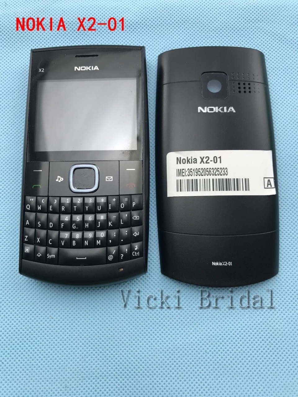 Refurbished phone Nokia X2-01 Symbian OS Computer Keyboard Mobile Phone Fashion Cell Phones blue 4