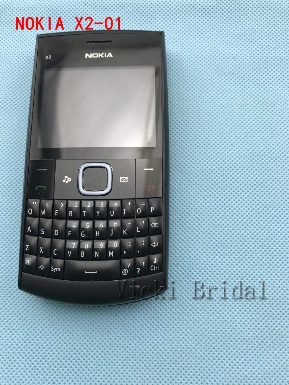 Refurbished phone Nokia X2-01 Symbian OS Computer Keyboard Mobile Phone Fashion Cell Phones blue 2