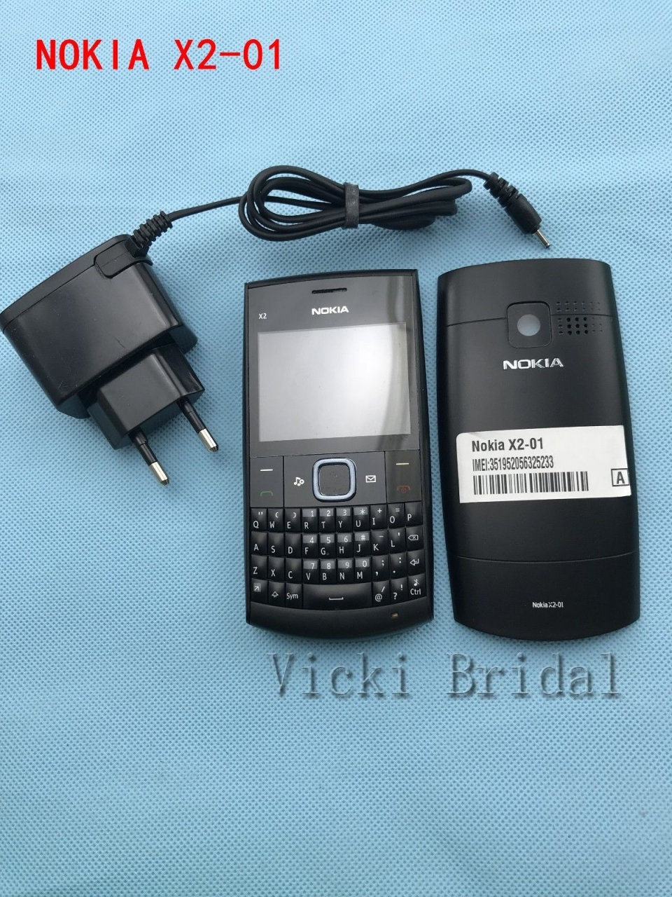 Refurbished phone Nokia X2-01 Symbian OS Computer Keyboard Mobile Phone Fashion Cell Phones blue 8