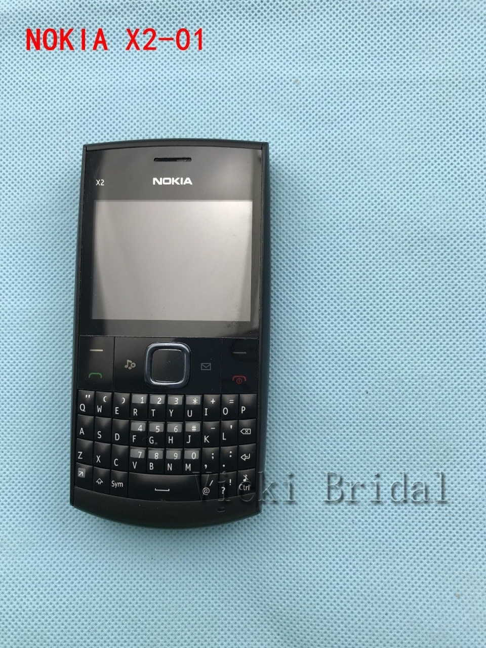 Refurbished phone Nokia X2-01 Symbian OS Computer Keyboard Mobile Phone Fashion Cell Phones blue 5